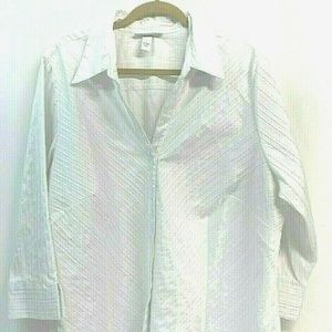 Dress Barn Woman SIZE 22/24 White Blouse Stretch